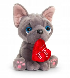 "French Bulldog ""I love You"" 14cm"