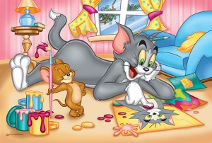 "PUZZLE 60 el. Tom & Jerry. ""Malowanki"""